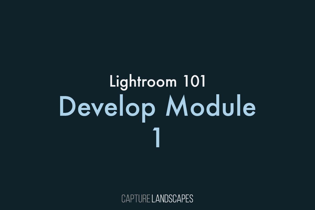 Lightroom Develop Module