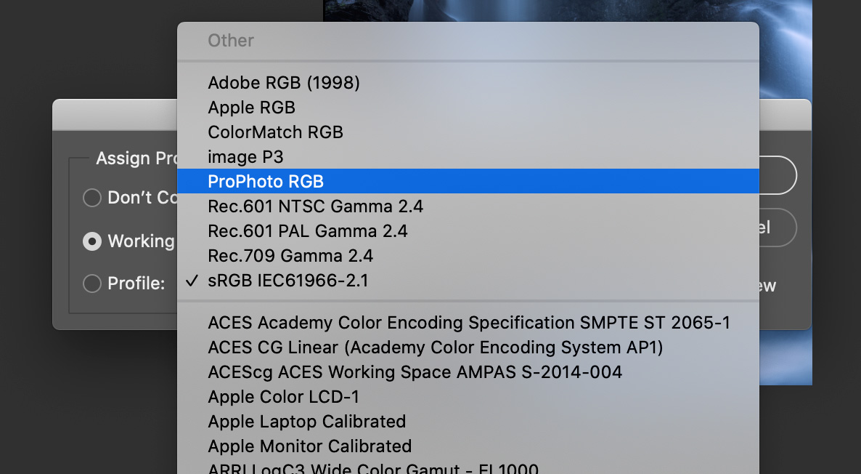 ProPhoto RGB Photoshop