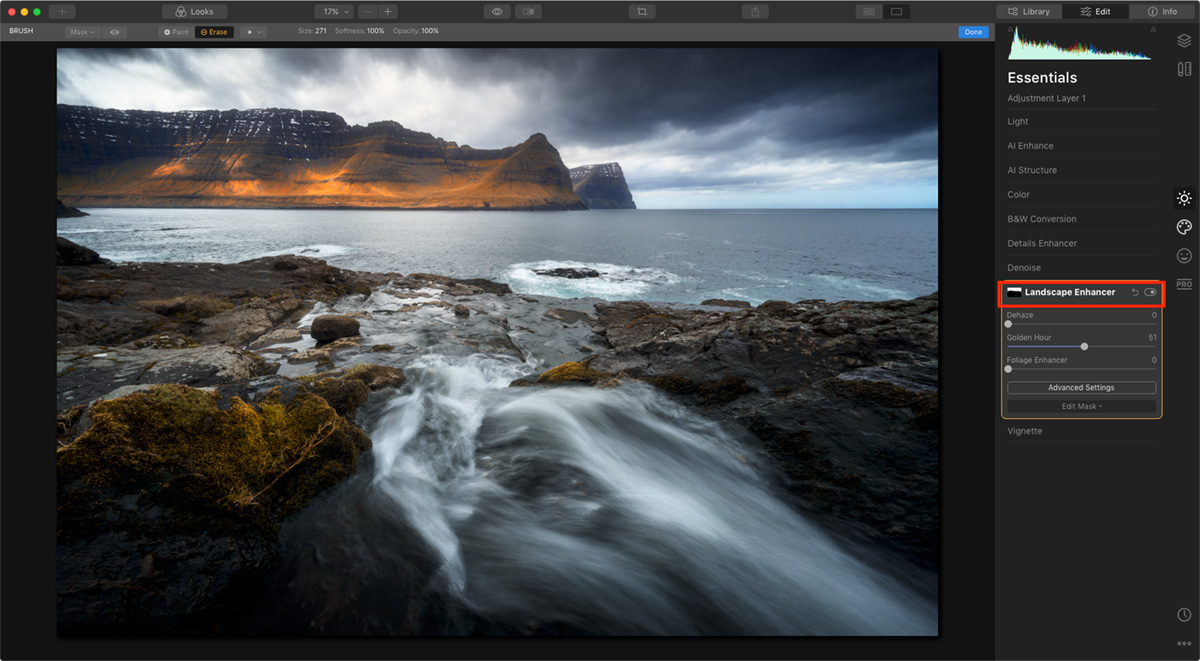 Adjustment Mask in Luminar 4