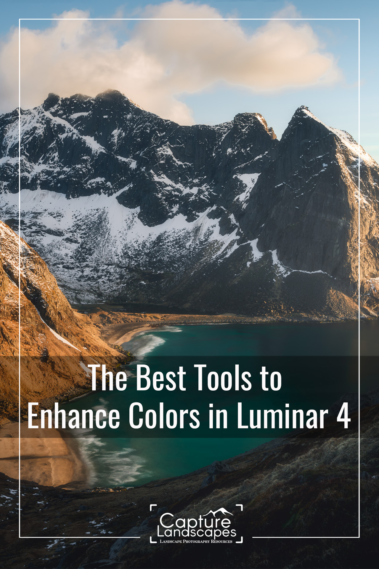 Enhance colors in Luminar 4 Pinterest