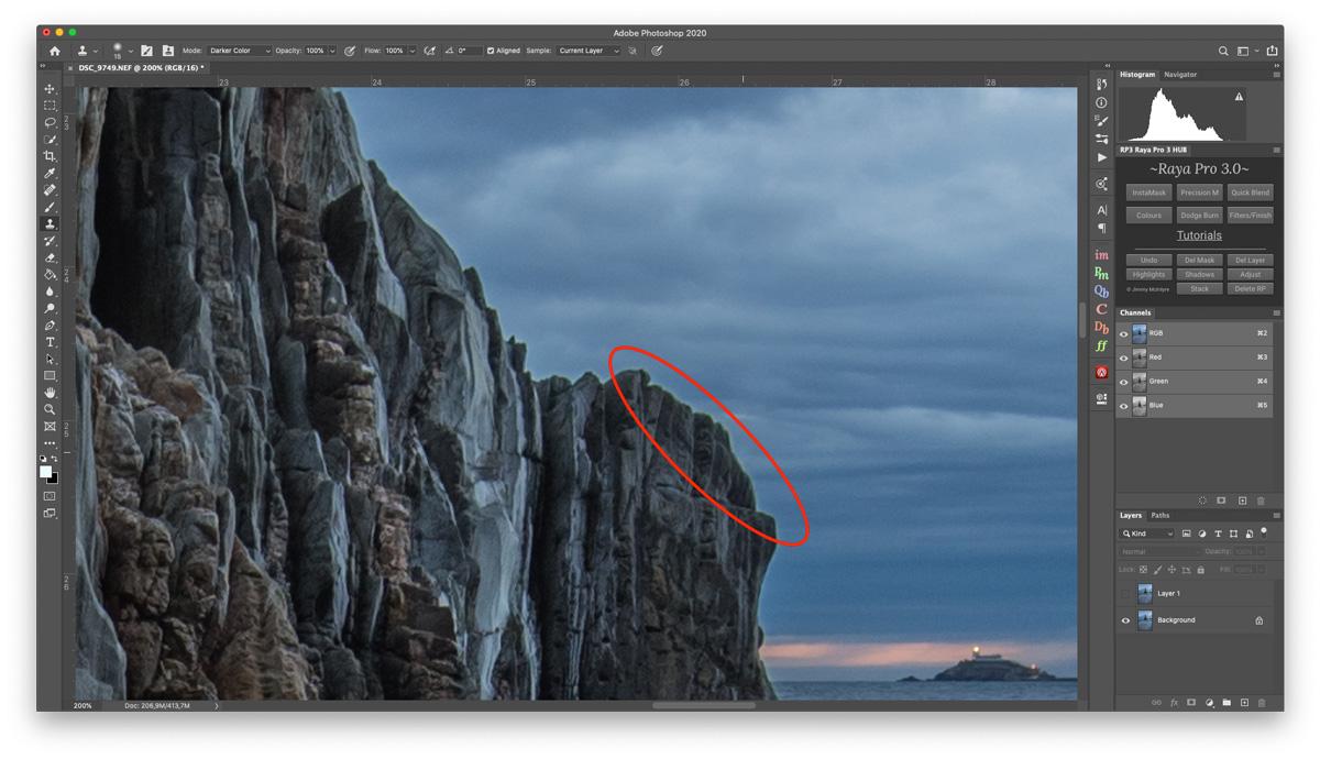 fix edge halos in photoshop