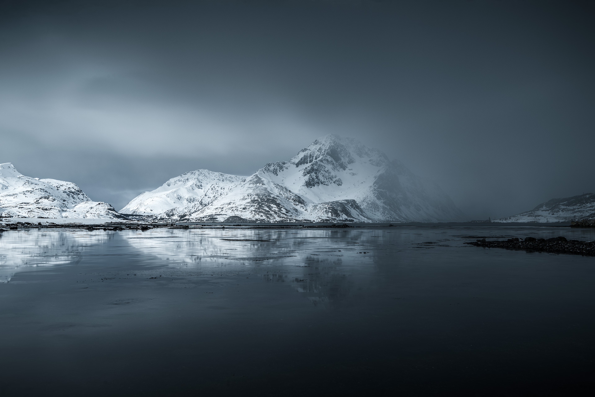 Changing weather when photographing the Lofoten Islands
