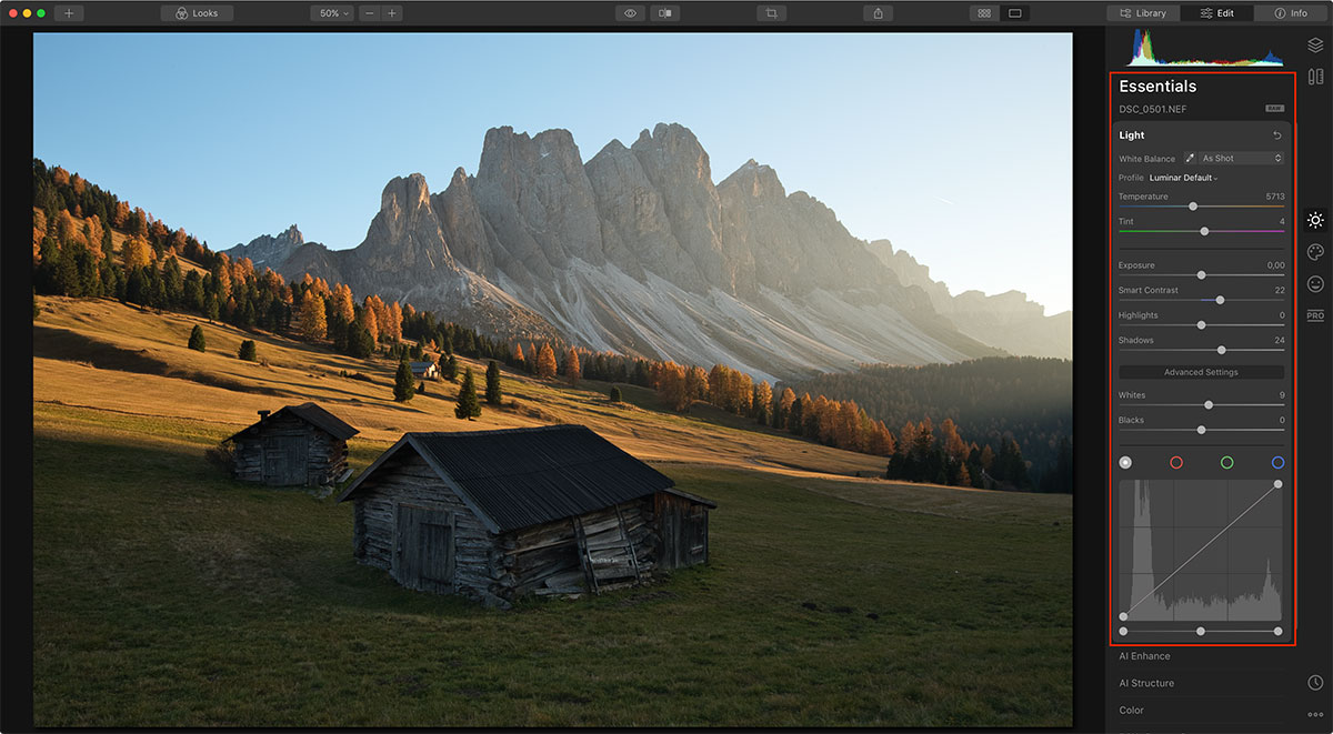 Edit Autumn Photographs in Luminar 4 Essentials