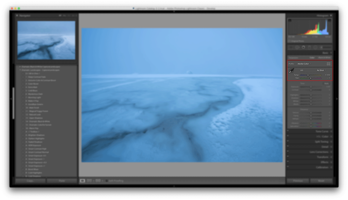 White Balance in Adobe Lightroom
