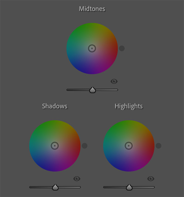 Color Wheels in Lightroom