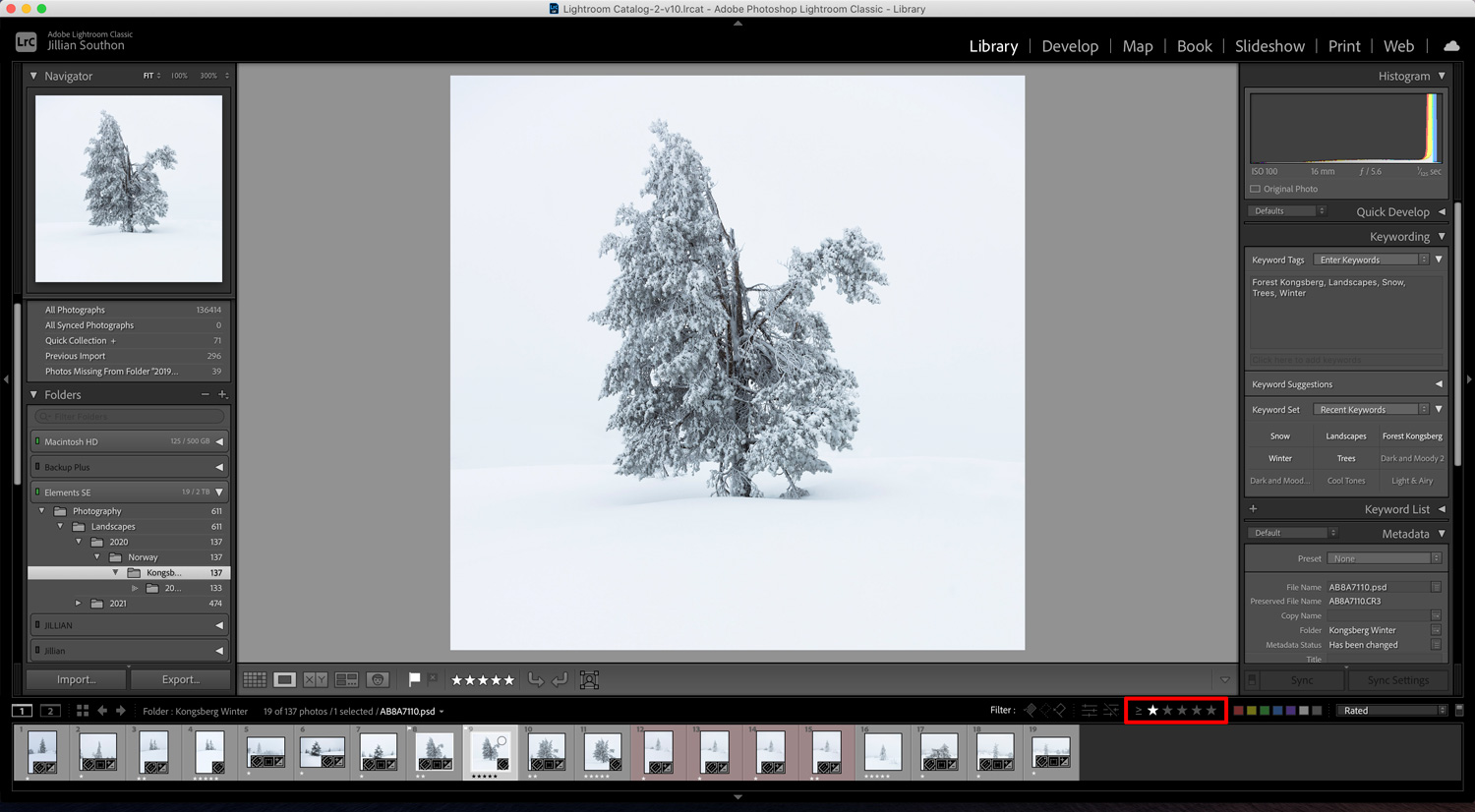 Organizing images in Lightroom